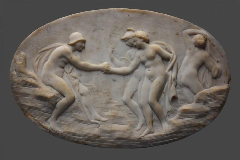 Carrara marble plaque
