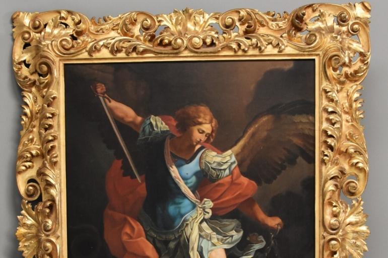 Oil 'Michael defeating Satan'