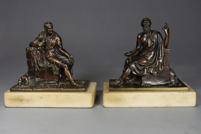 Pair of 19thc French bronzes