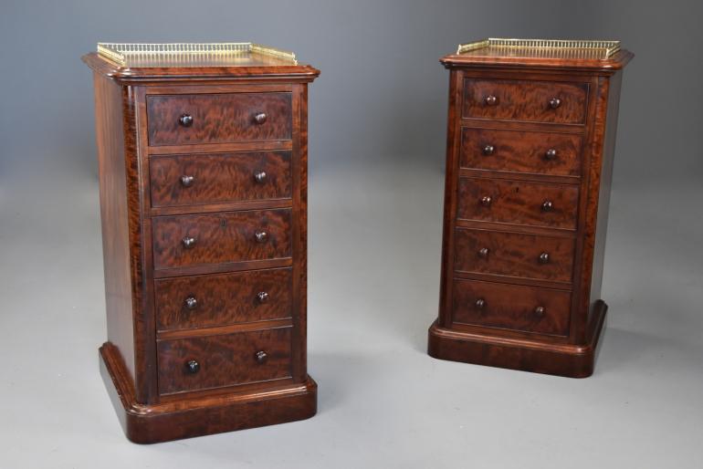 Pair of mahogany chests