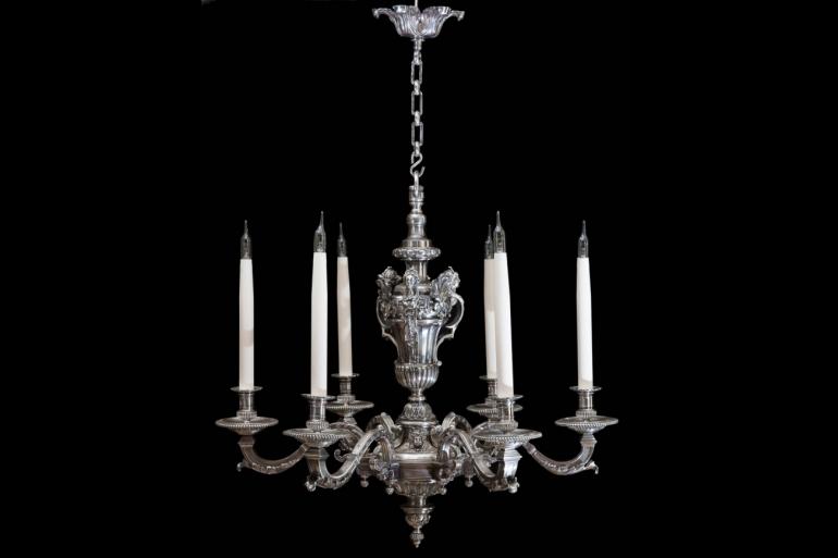 Louis XV Silver Chandelier