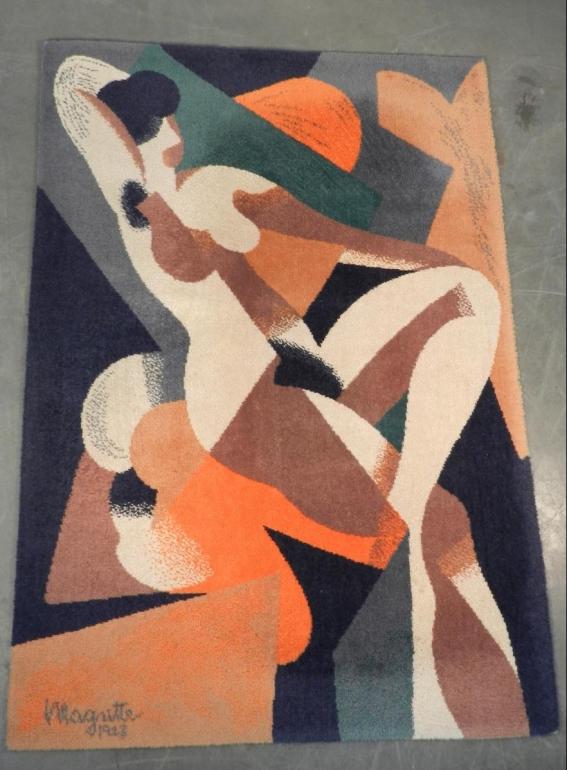 Magritte 1928 Art Deco carpet