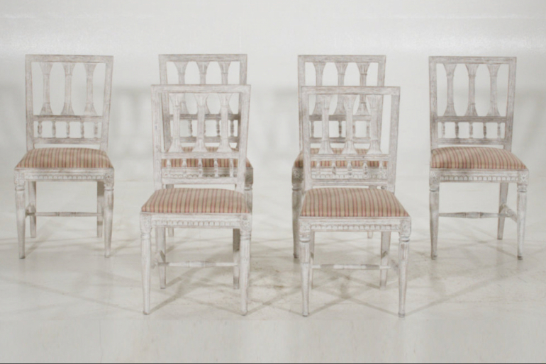 Eight chairs, 19th C.