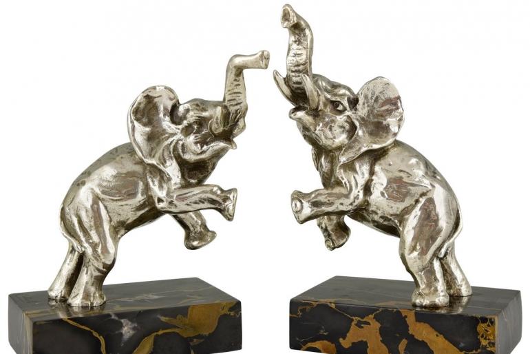 Art deco Elephant bookends
