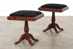 Pair of late Empire stools