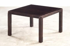 Coffee table in black lacquer