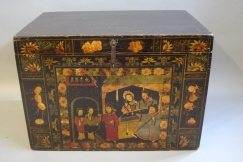C19th lacquered Chinese trunk