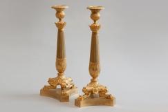Gilt Bronze Candlesticks