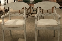 Swedish Biedermeier Armchairs