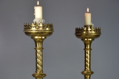 Pair Gothic style candlesticks