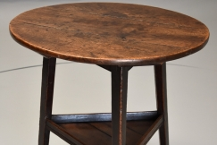 18thc oak cricket table