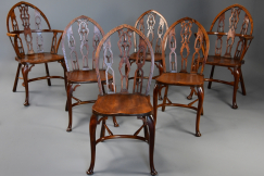 6 Gothic style Windsor chairs