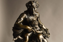 Large bronze of Satyr & fauns