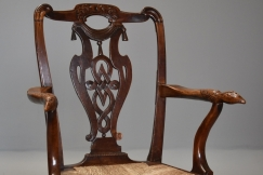 18thc mahogany & walnut chair