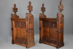 Large oak double gate table