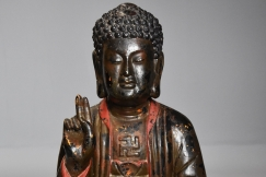 Asian wooden Buddha