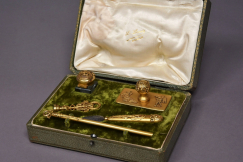 Superb gilt metal writing set