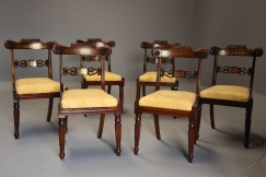 Set of six Regency chairs