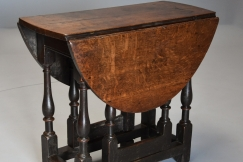 17thc small oak gateleg table