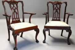 Pair Chippendale style chairs