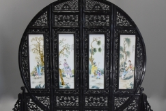 Chinese circular screen