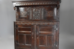 Mid 17thc oak press cupboard