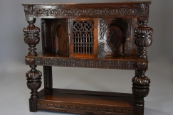 Superb oak livery cupboard