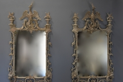 Pair Chippendale style mirrors