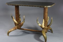 19thc German cow horn table