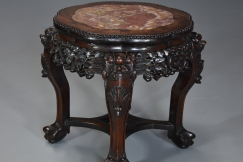 Chinese hardwood pot stand
