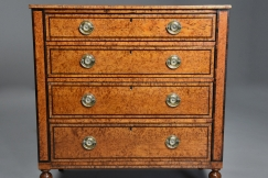 Rare Karelian birch chest