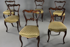 Set of 6 rosewood chairs