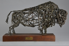 Bronze wirework 'Bison'