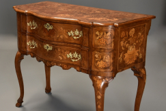 19thc floral marquetry lowboy