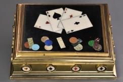 19thc Pietre Dure games box