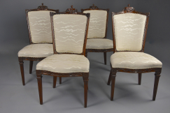 Four 18thc walnut chairs
