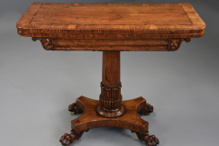 William IVth oak card table