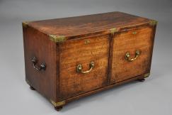 19thc camphor Campaign chest