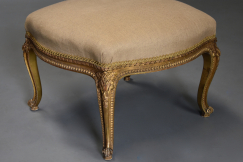 19thc French giltwood stool