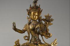 Chinese gilt metal Buddha