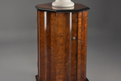 19thc mahogany pot cupboard