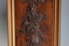Continental fruitwood carving