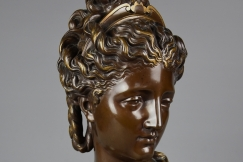 19thc French bronze bust