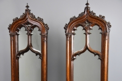 Fine pair of Gothic mirrors