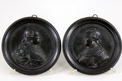 18th c. lead plaques