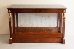 Mahogany Console Stamped Jacob