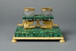 Malachite Inkstand, 19th C