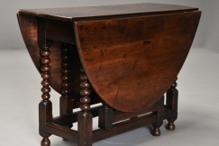 17thc oval oak gateleg table