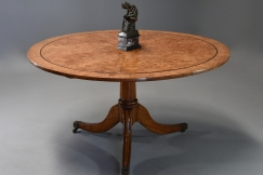 19thc burr elm breakfast table