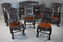 Chinese padouk 7 piece suite